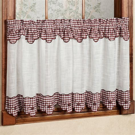 gingham curtains red red and white gingham curtains