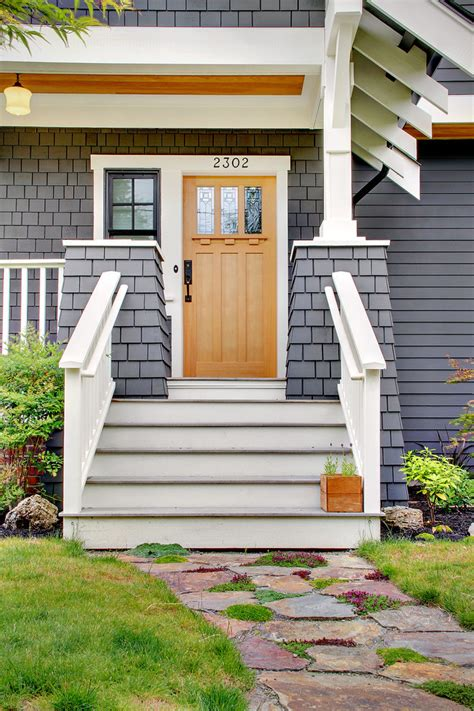 Craftsman Style Front Doors Porch Traditional With None Traditional Front Door Colors