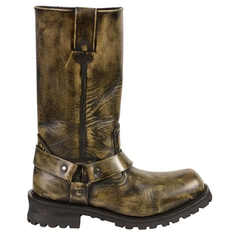 Boot R 011 11 s distressed brown 11 quot inch classic harness square toe
