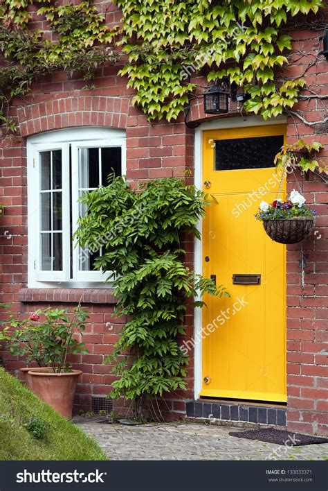 yellow front door yellow front door entrance and style window of a