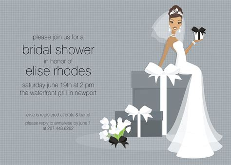 bridal shower card template free bridal shower card invitation templates