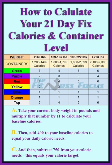 calculator level 44 how to calculate your 21 day fix calorie and container