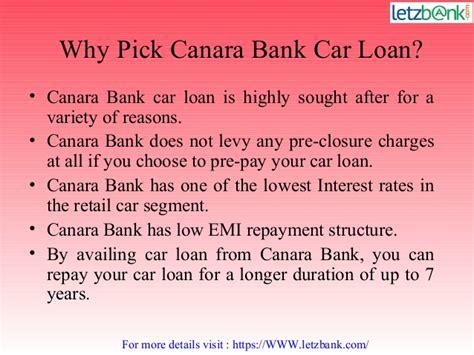 Education Loan For Mba In Canara Bank by Canara Bank Car Loan