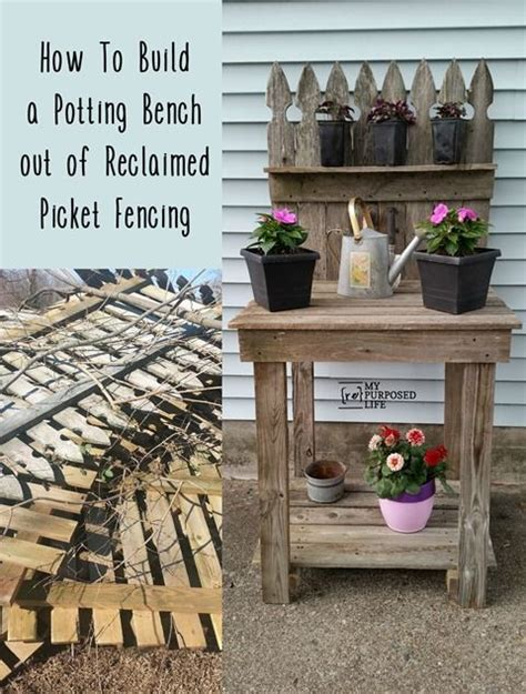 how to make your own bench diy crafts ideas how to make your own reclaimed wood potting bench out of old