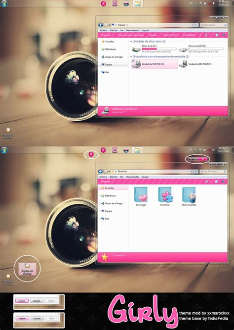 windows 8 themes girly girly theme for windows 7