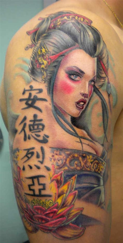 geisha tattoos geisha images designs