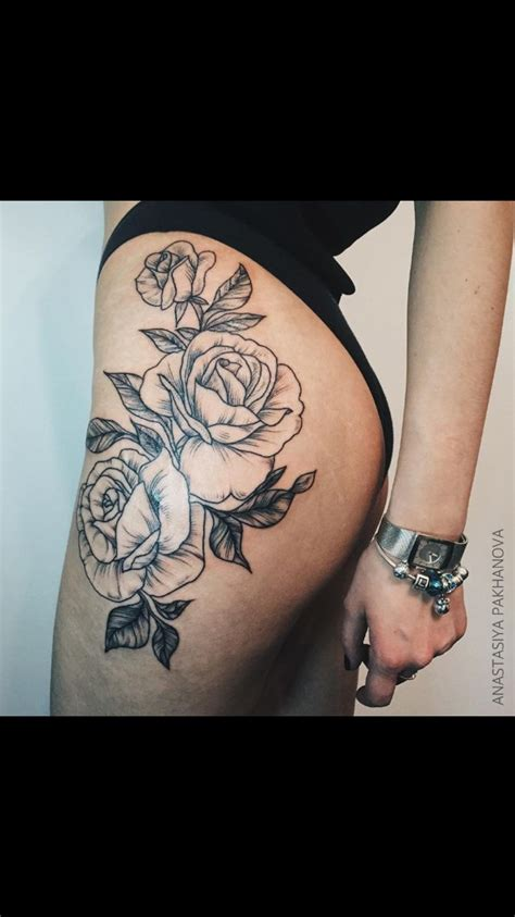 Pinterest Tattoo On Hip | floral hip thigh tattoo moi pinterest hip thigh
