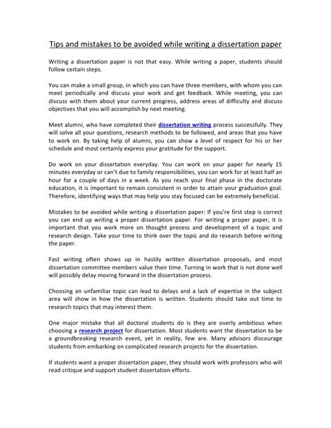 tips for writing a dissertation tips and mistakes to be avoided while writing a
