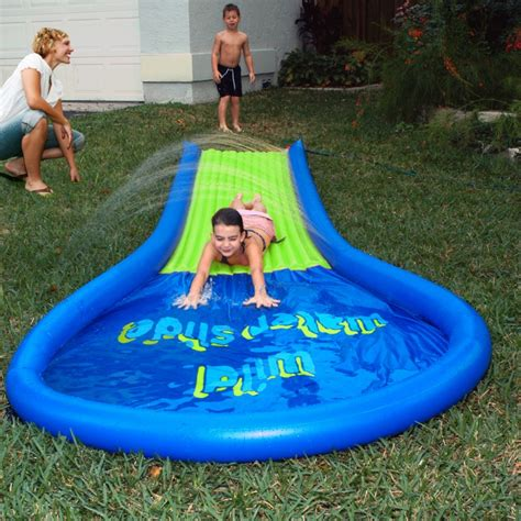 backyard water toys backyard wild water slide av1015860 pooltoysmart com