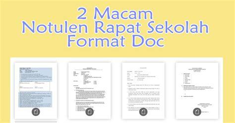 format buku kas osis 2 macam notulen rapat sekolah format doc inspirasi guru