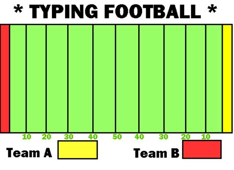printable paper football field keyboarding activity typing football