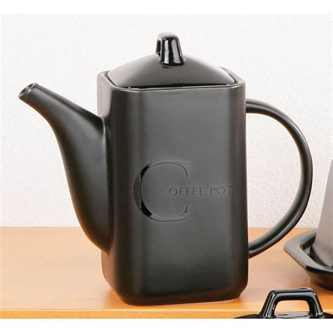 coffee kitchen canisters ceramic black text tea coffee sugar biscuit utensil teapot canister storage jars ebay