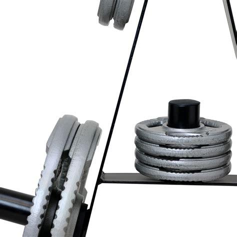 Rak Barbel mirafit 2 quot olympic weight plate storage rack 7 post disc stand tree holder