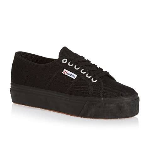 are supergas comfortable superga 2790 acot shoes full black free uk delivery