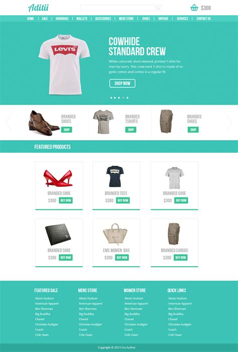 ecomerce template premium ecommerce website template psd for free