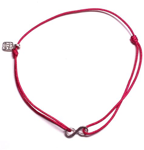 8 infinity symbol cord bracelet