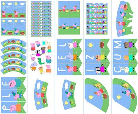 banderines de pepa luciern 225 banderines decorativos de peppa pig para imprimir gratis peppa pig y sus amigos kit imprimible