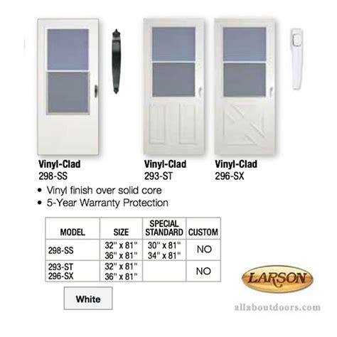 Vinyl Clad Exterior Doors Vinyl Clad Self Storing Traditional Door