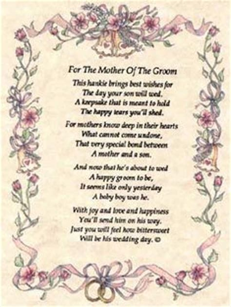 mother of the groom poems   Hankies for Weddings include