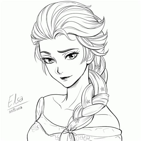 elsa coloring pages pdf elsa drawing hdmoviepaper com coloring home