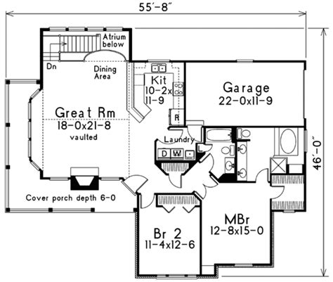floor plans com traditional style house plan 2 beds 2 baths 1415 sq ft