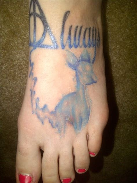 quot deathly hallows always doe patronus quot tattoo idea i
