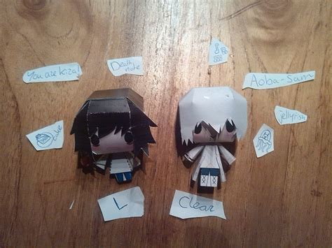 Note Papercraft - dramatical murder and note papercraft by