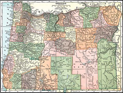 map of oregon 1900 oregon