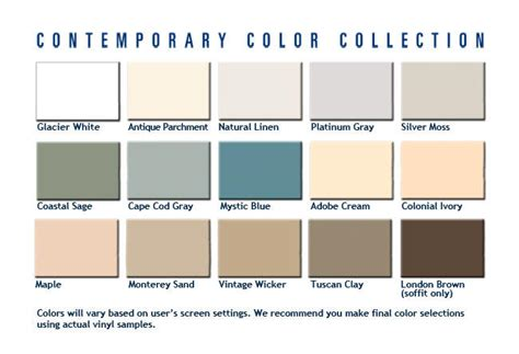 colors of vinyl siding vinyl siding colors siding contractor