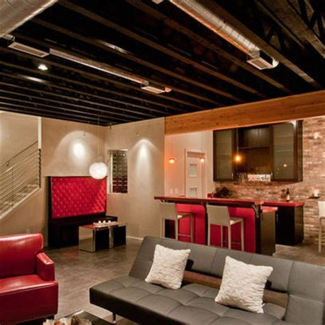 Basement Exposed Ceiling by 1000 Images About Loft Style Unfinished Basements On