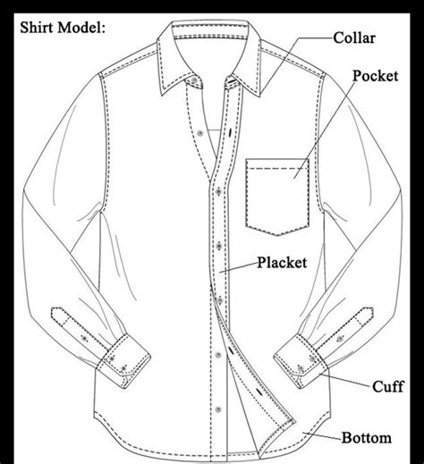 shirt pattern diagram top selling special offer fashion man t c long sleeve nude