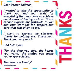 thank you letter to your fertility doctor thank you letters from our patients page 3 newlife