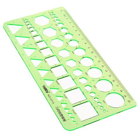 plastic circles square geometric template ruler stencil