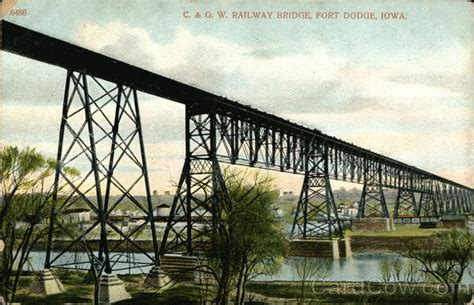 terror bridge fort dodge iowa c g w railway bridge fort dodge ia