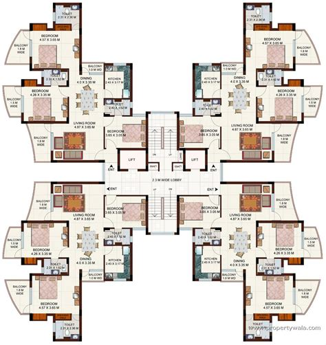 cluster home floor plans ansals tanushree nh 24 ghaziabad residential project
