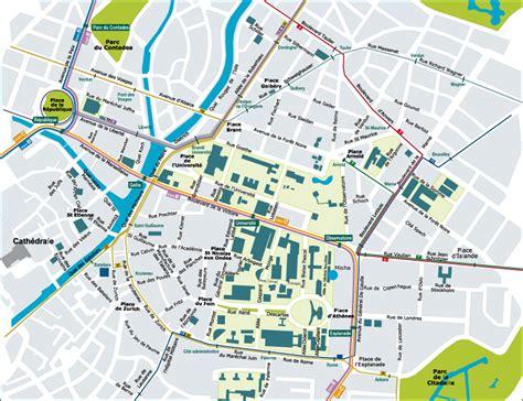 Strasbourg Plan by Fac De Droit Strasbourg