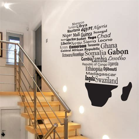African Wall Stickers giant africa mural wall decal sticker graphic