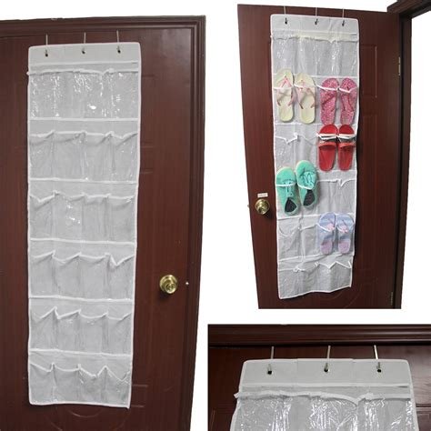 closet door organizers 24 pocket the door clear shoe organizer storage rack closet organizer ebay