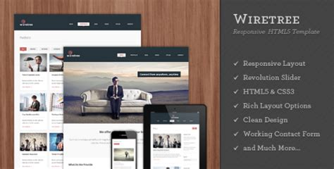 Wiretree Responsive Html5 Template Html Others Themeforest Themeforest Html5 Templates