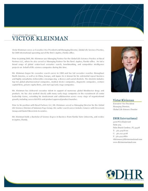 bio exles for executives best photos of executive bio format executive bio