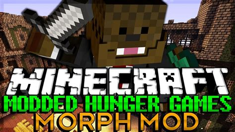 hunger games mod in minecraft minecraft modded hunger games morph animals mod youtube