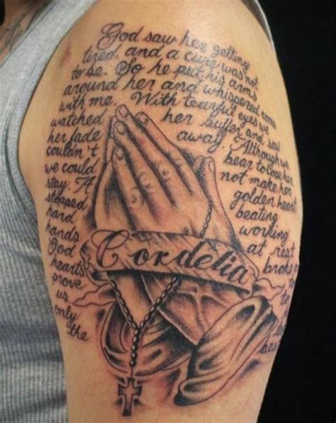 40 best praying hands tattoos