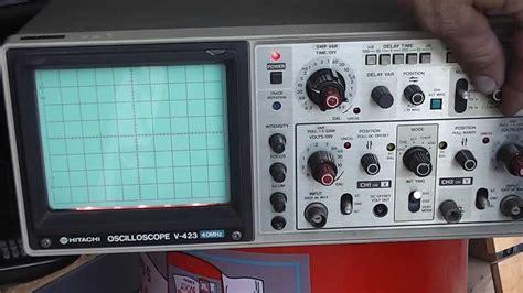 sold hitachi   oscilloscope  mhz   channel