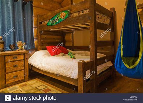 children bunk bed wooden 2 floor ladder ark with slide bed bunk bed bedroom stock photos bunk bed bedroom stock