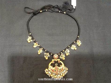black necklace designs india gold black thread necklace design indian jewelry