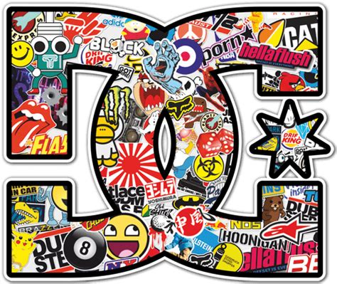Skateboarding Wall Stickers autocollant skate surf dc sticker bomb 2