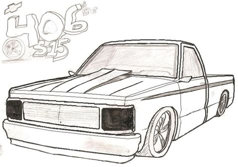 Chevy Truck Drawings by Chevy Truck Drawings And Coloring Pages