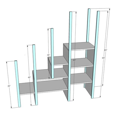 bunk bed ladder plans ana white build a sweet pea garden bunk bed storage