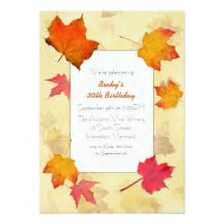 falling leaves fall birthday invitations zazzle