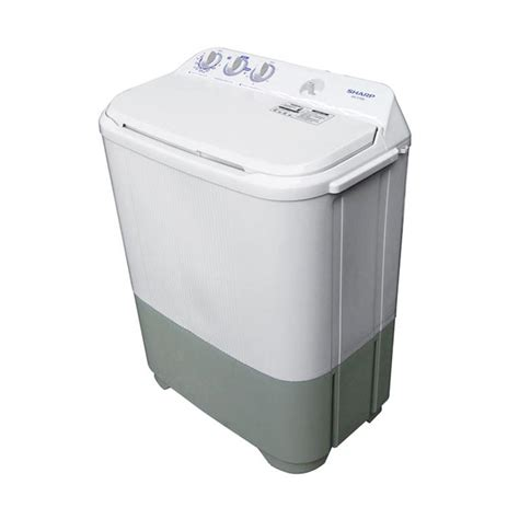 Mesin Cuci Sharp Kapasitas 9 Kg jual sharp est65mw mesin cuci 2 tabung 6 5 kg